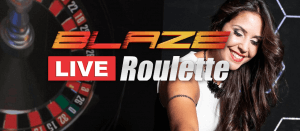 Live Blaze Roulette logo achtergrond