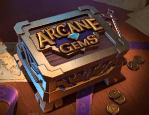 Arcane Gems logo achtergrond