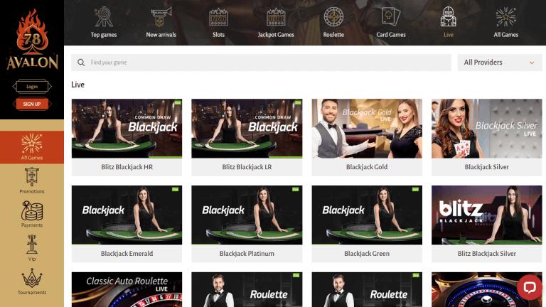 Avalon 78 Casino Screenshot 3