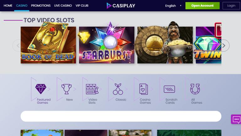 Casiplay Casino Screenshot 2
