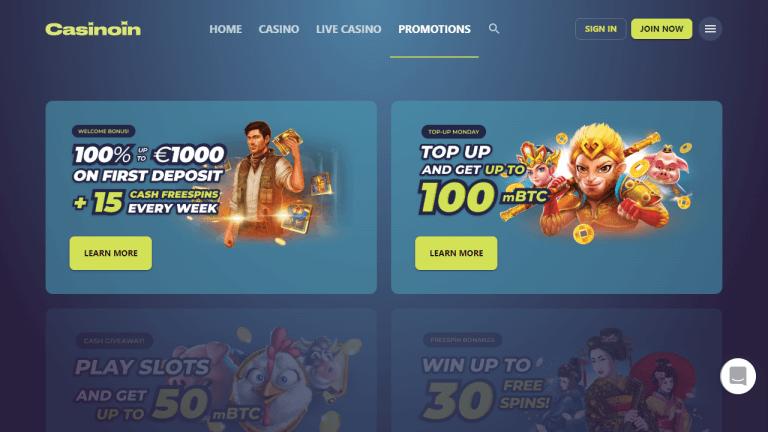 Casinoin Screenshot 2