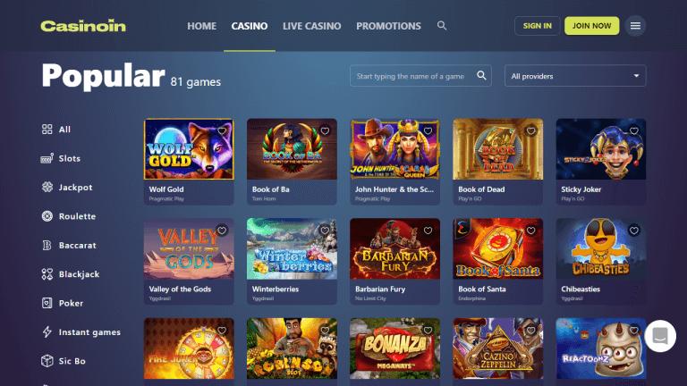 Casinoin Screenshot 3