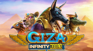 Giza Infinity Reels logo achtergrond