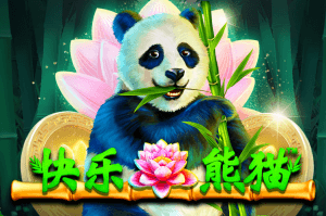 Happy Panda logo achtergrond