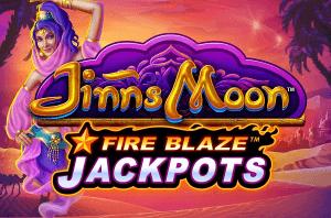 Jinns Moon Fire Blaze logo achtergrond
