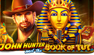 John Hunter and the Book Of Tut logo achtergrond