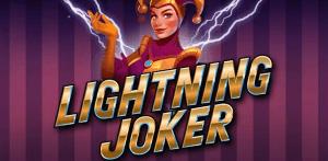 Lightning Joker logo achtergrond