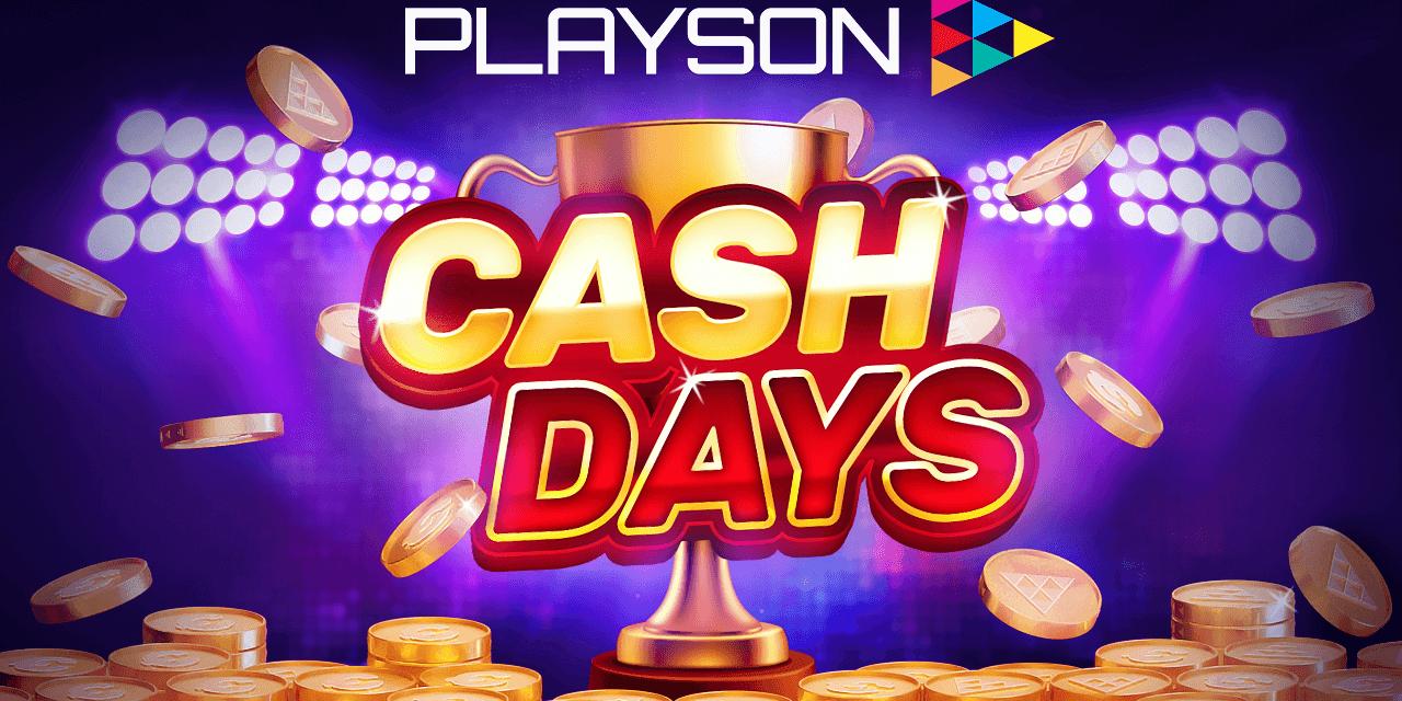 Playson lanceert nieuw netwerk prijzentoernooi: Cash Days