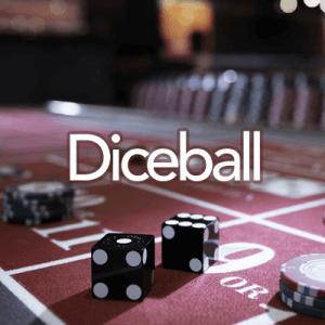 Diceball logo achtergrond