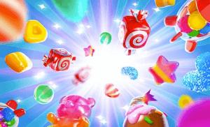 Candy Burst logo achtergrond