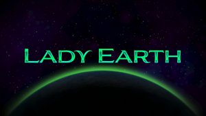 Lady Earth logo achtergrond