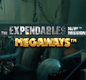 The Expendables New Mission Megaways logo achtergrond