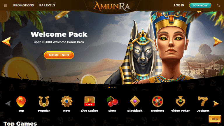 AmunRa Casino Screenshot 1