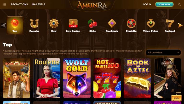 AmunRa Casino Screenshot 3