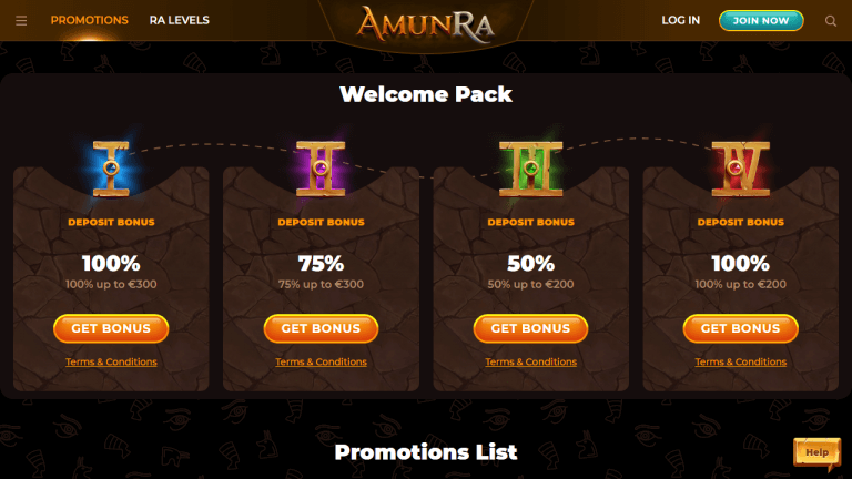 AmunRa Casino Screenshot 2