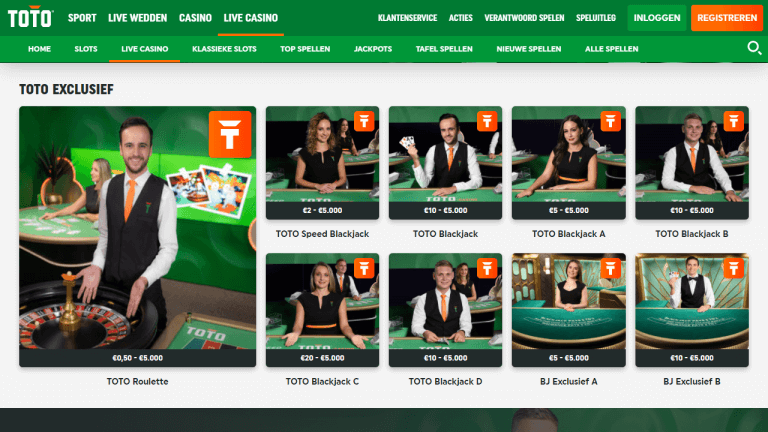 TOTO Casino Screenshot 3
