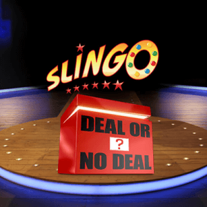 Slingo Deal or No Deal logo achtergrond