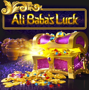 Ali Baba's Luck logo achtergrond