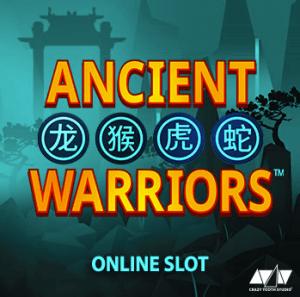 Ancient Warriors logo achtergrond
