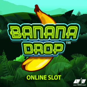 Banana Drop logo achtergrond