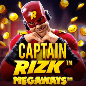Captain Rizk Megaways logo achtergrond