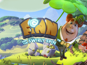 Finn and the Swirly Spin logo achtergrond