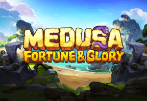 Medusa Fortune & Glory logo achtergrond
