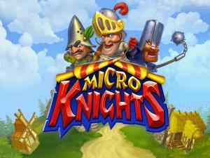 Micro Knights logo achtergrond