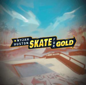Nyjah Huston: Skate for Gold logo achtergrond