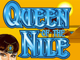 Queen Of The Nile logo achtergrond