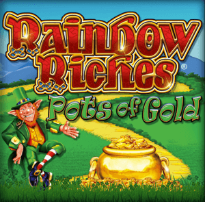 Rainbow Riches Pots Of Gold logo achtergrond