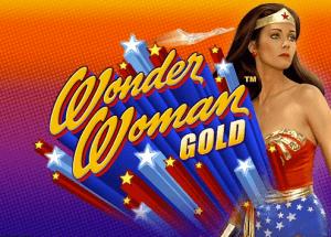 Wonder Woman Gold logo achtergrond