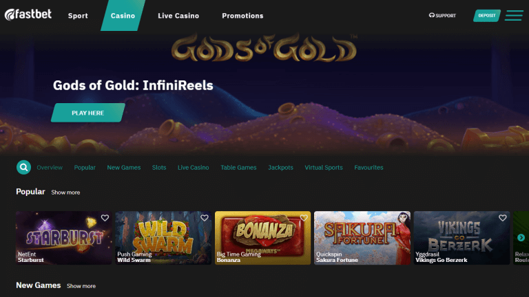 Fastbet Casino Screenshot 2