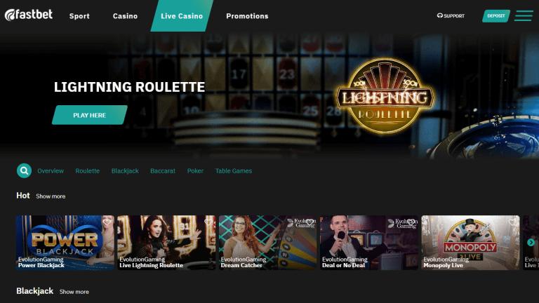 Fastbet Casino Screenshot 3