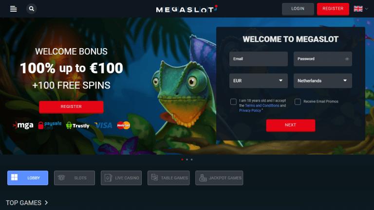 Megaslot Casino Screenshot 1