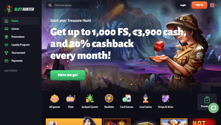 Slot Hunter Casino Screenshot 1