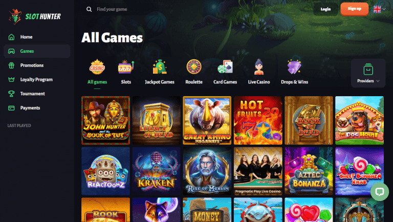 Slot Hunter Casino Screenshot 2