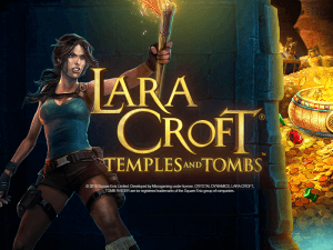 Lara Croft: Temples and Tombs logo achtergrond