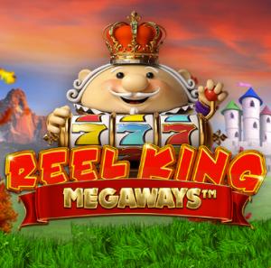 Reel King Megaways logo achtergrond