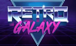 Retro Galaxy logo achtergrond