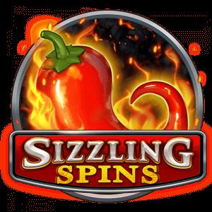 Sizzling Spins logo achtergrond