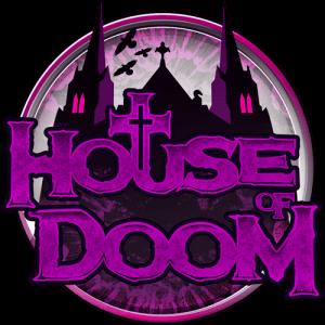 House of Doom logo achtergrond