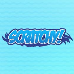 Scratchy logo achtergrond