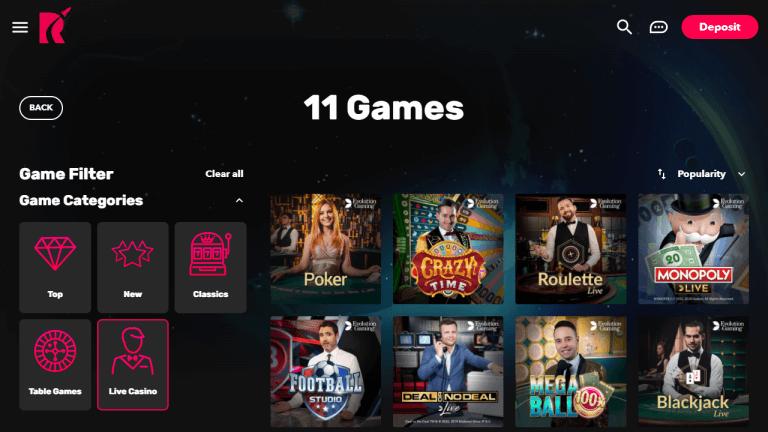 Rocket Casino Screenshot 2