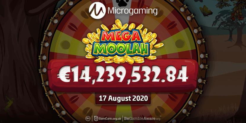 Mega Moolah jackpot van ruim 14 miljoen euro valt