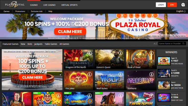 Plaza Royal Casino Screenshot 1