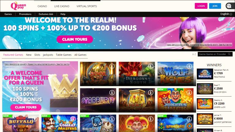 QueenPlay Casino Screenshot 1