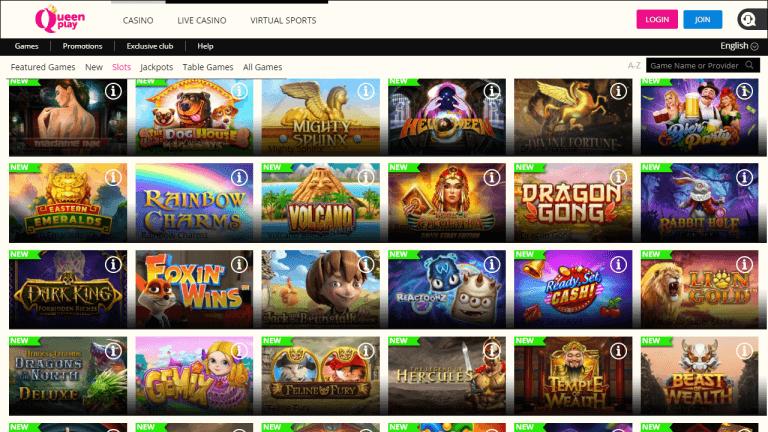 QueenPlay Casino Screenshot 2