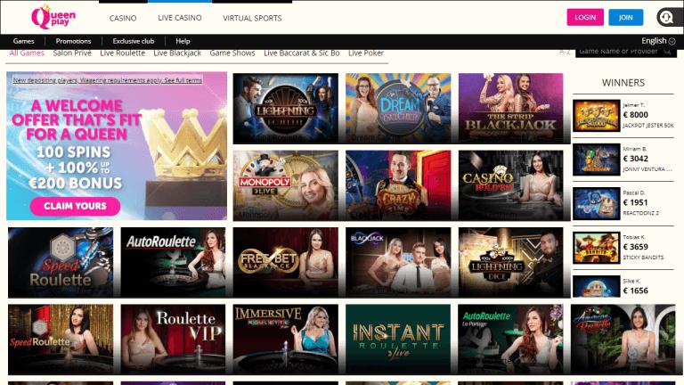 QueenPlay Casino Screenshot 3