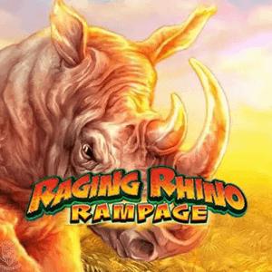 Raging Rhino Rampage logo achtergrond